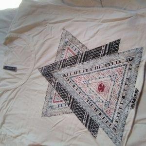 full tilt women's white graphic tee crop top